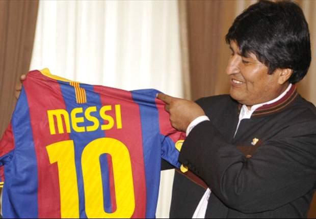 Evo quiere condecorar a Messi
