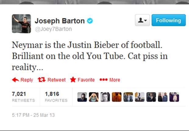 """Joey Barton: """"Neymar es el Justin Bieber del fútbol"""""""