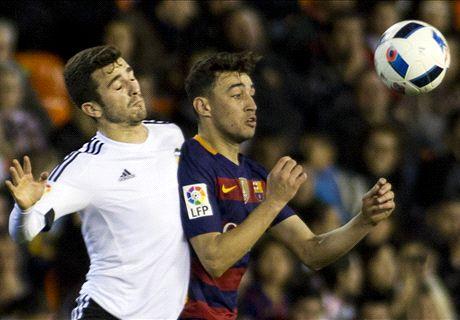 FT: Valencia 1-1 Barcelona
