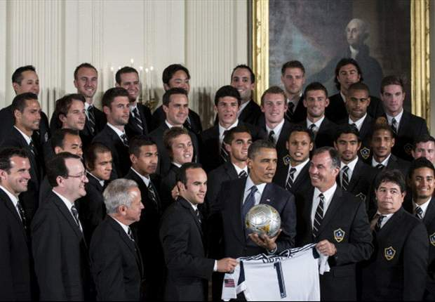 President Obama welcomes Galaxy to White House, wishes good luck to USA