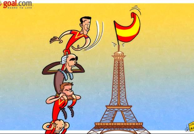 Cartoon - L'Espagne a conquis la France