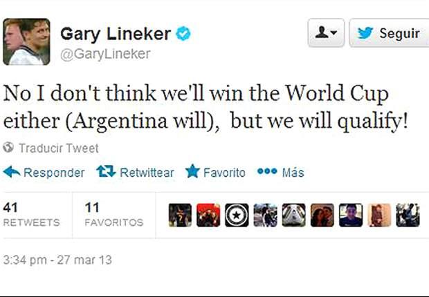 """""""Argentina ganará el Mundial de Brasil"""", asegurá Gary Lineker"""