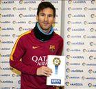 Messi joueur du mois en Liga, une première