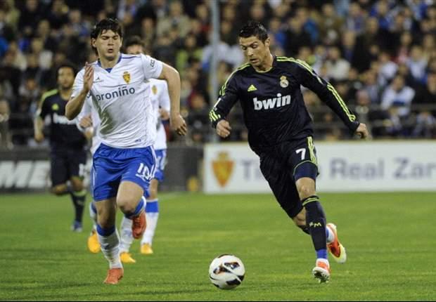 Triste empate del Real Madrid en La Romareda