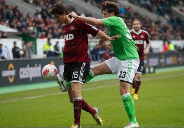 VfL Wolfsburg verspielt 2:0-Führung gegen den 1. FC Nürnberg