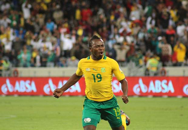 Bafana Bafana and Helsingborg midfielder May Mahlangu