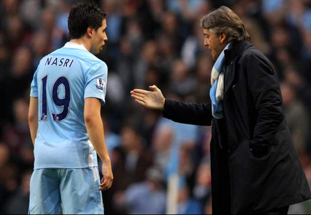 Nasri dismisses criticism from Manchester City boss Mancini