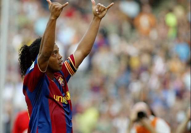Ronaldinho foi um dos maiores brasileiros que jogou no Barça.