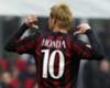 Milan 2-1 Genoa: Impressive Honda secures win