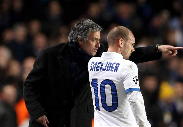 Sneijder has hinted at a reunion with Mourinho at Chelsea