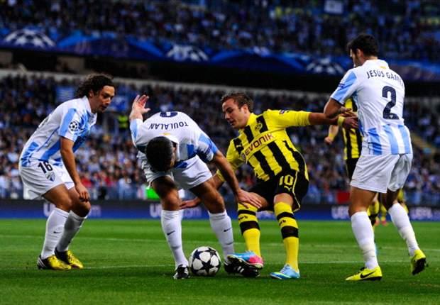 Dortmund en Málaga wonderbaarlijk in evenwicht