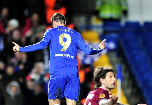 Chelsea 3-1 Rubin Kazan: Torres double has Blues within touching distance of last four