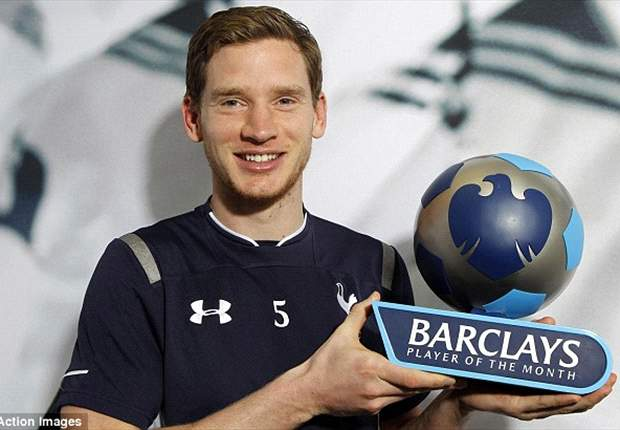 Tottenham defender Vertonghen named Player of the Month for March