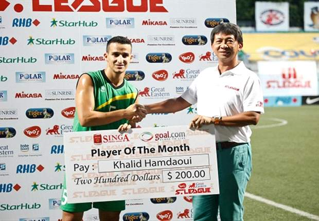 'My wife says I deserved the award!' - Khalid Hamdaoui on his Singa-Goal.com Player of the Month award for March