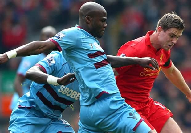 Liverpool dominó sin suerte ante West Ham y se aleja de Europa