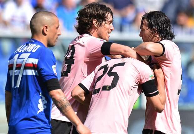 Serie A, 31ª giornata - Colpaccio Palermo a Marassi, che gemme per Ilicic e Di Natale!