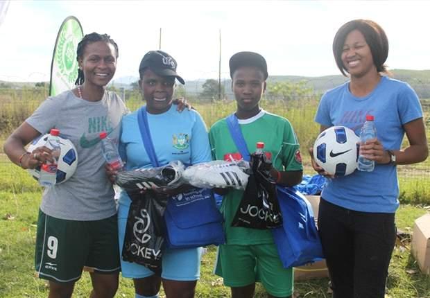 Banyana's Amanda Dlamini instills life skills through football