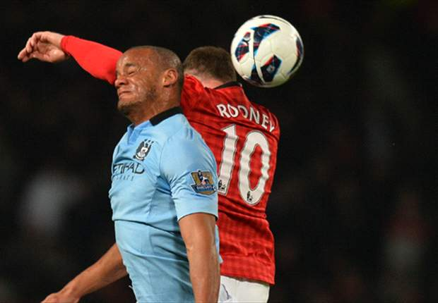 Kompany hopes Rooney is on top form for Manchester derby