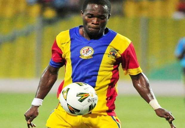 Mahatma Otoo in action for Hearts at the Accra Sports Stadium