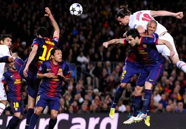 PSG proud of Barcelona display, says Van der Wiel
