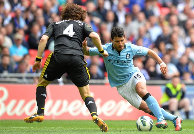 Luiz wants Aguero apology for tackle in Chelsea's defeat to Manchester City