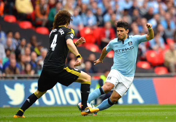 Aguero apologises to David Luiz for challenge in FA Cup clash