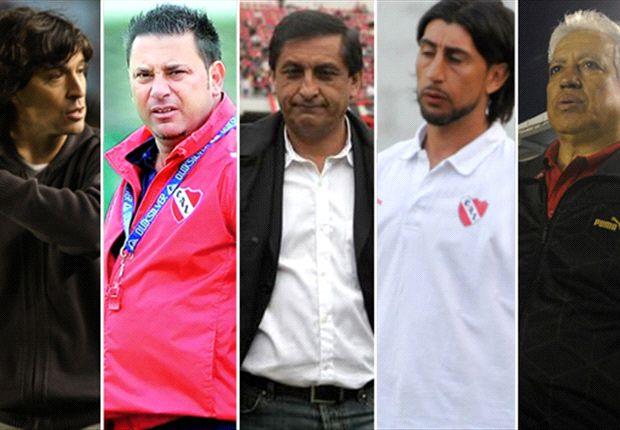 Daniel Garnero, Antonio Mohamed, Ramón Díaz, Cristian Díaz y América Gallego.
