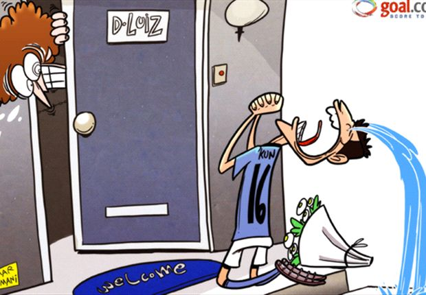 Cartoon - Aguero demande pardon à Luiz