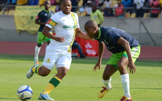 Edward Mnqele of the Mamelodi Sundowns and Tshepo Gumede ... - photo#11