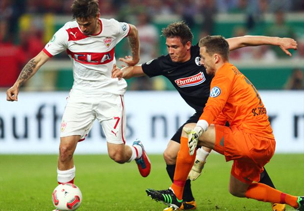 Im vergangenen Pokalhalbfinale setzte sich der VfB Stuttgart gegen den SC Freiburg durch