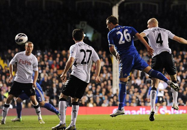 Fulham 0-3 Chelsea: Terry double helps lift Blues up into third