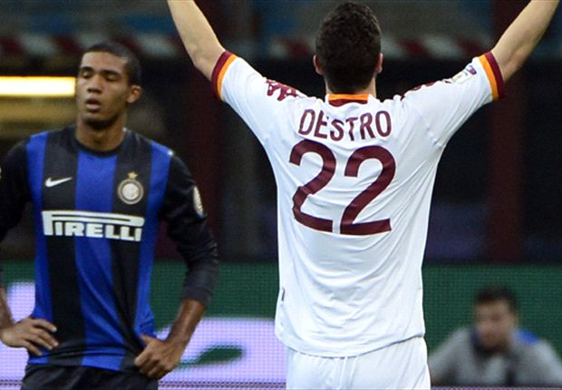 Inter 2-3 Roma (Agg 3-5): Destro double helps set up Coppa final against city rivals Lazio