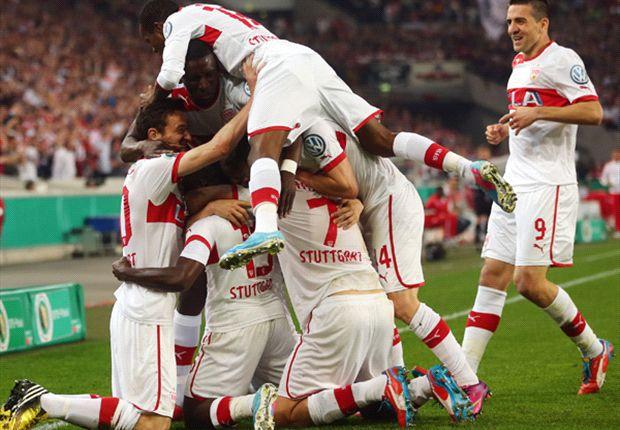 Kampfduell: VfB Stuttgart steht nach 2:1 gegen den SC Freiburg im Pokalfinale