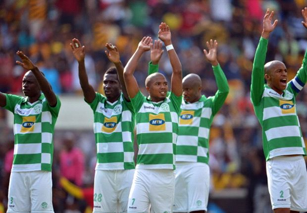Bloemfontein Celtic greet their supporters