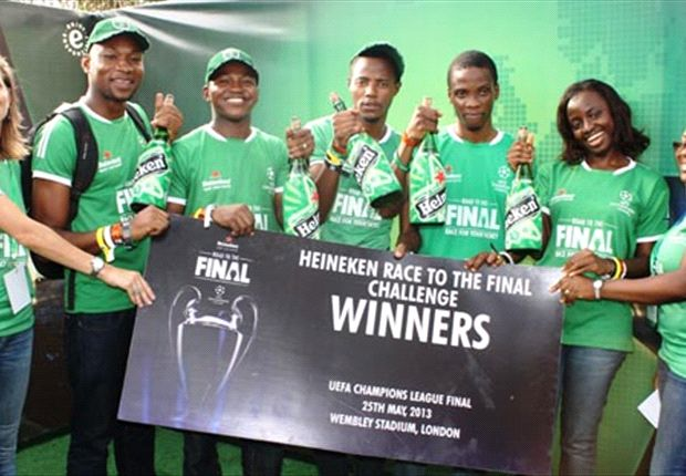 Heineken sponsors five Nigerians to UEFA Champions League final at Wembley