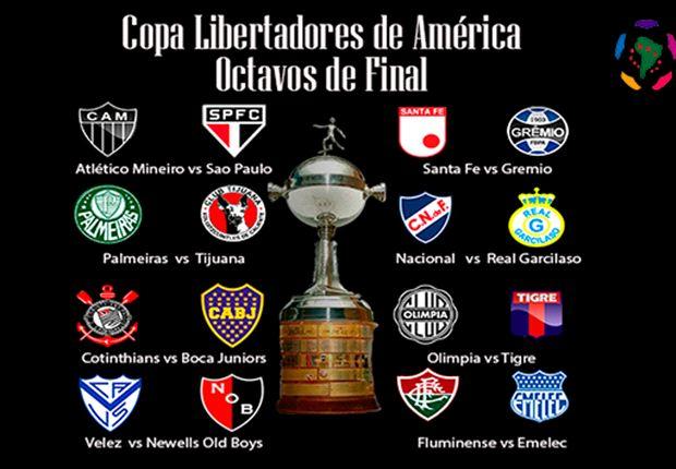 El Mix de los octavos de final de la Copa Libertadores