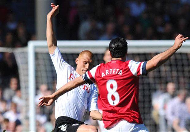 Arsenal met tien langs tien van Fulham