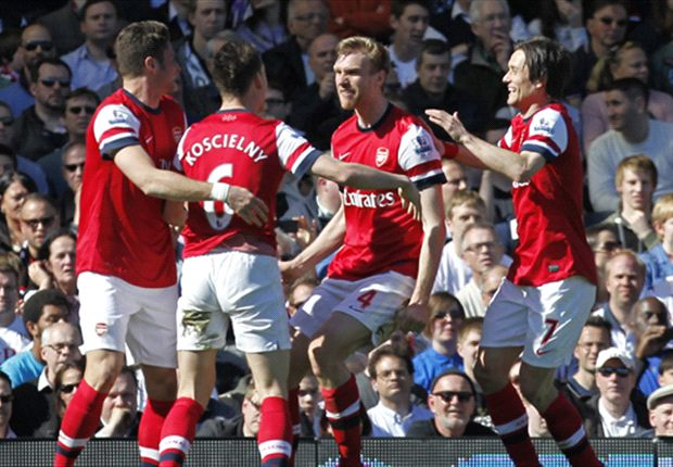 Fulham 0-1 Arsenal: Mertesacker moves Gunners up to third