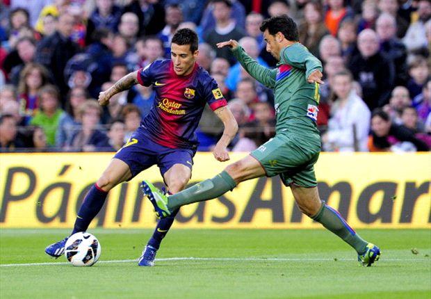 Tello durante un partido con el FC Barcelona