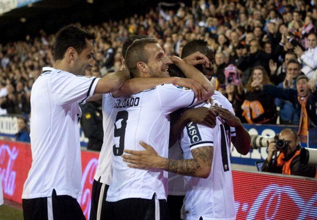 Valencia goleó al Málaga y sueña con la Champions