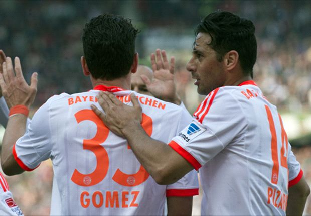 Bundesliga Team of the Week: Goals galore with Gomez, Pizarro & Kiessling up front