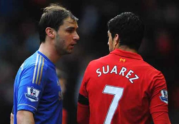Suarez in hot water over apparent Ivanovic bite