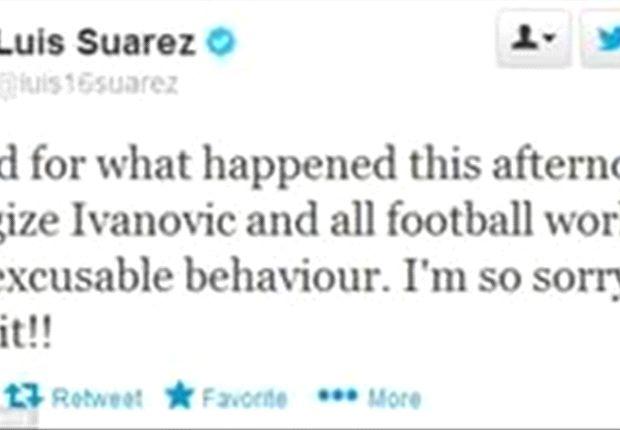 Luis Suárez se disculpa por morder a Ivanovic