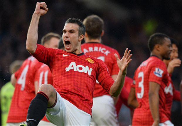 Van Persie leads from the front as Manchester United clinch title in style