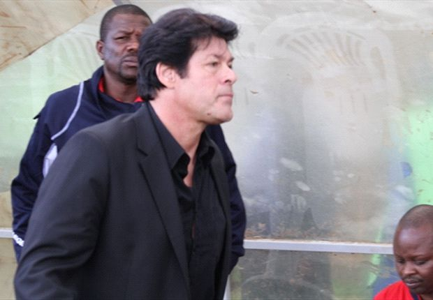 AFC Leopards coach Luc Eymael shouts instructions