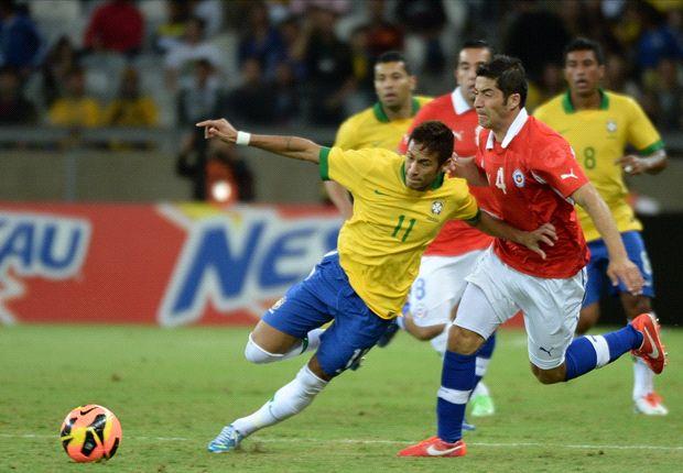 Diimbangi Cili, Brasil Dicemooh Fans