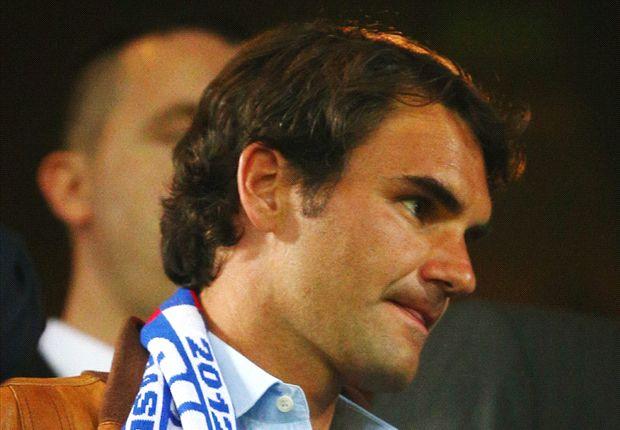 Roger Federer presenció en directo el Basilea - Chelsea