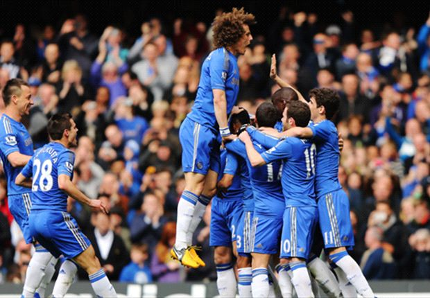 Chelsea strengthen their hold on the Champions League places with a commanding display
