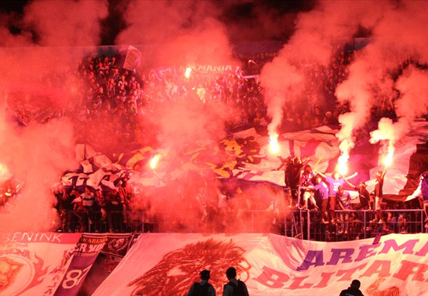 Flares and fireworks by Arema fans has been a concern for the authorities