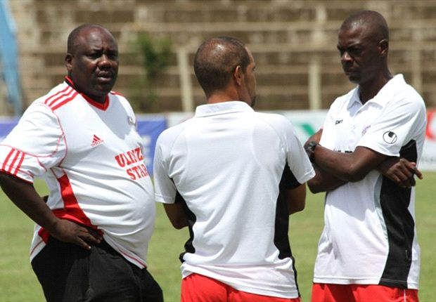 Ulinzi Stars officials in a past training session